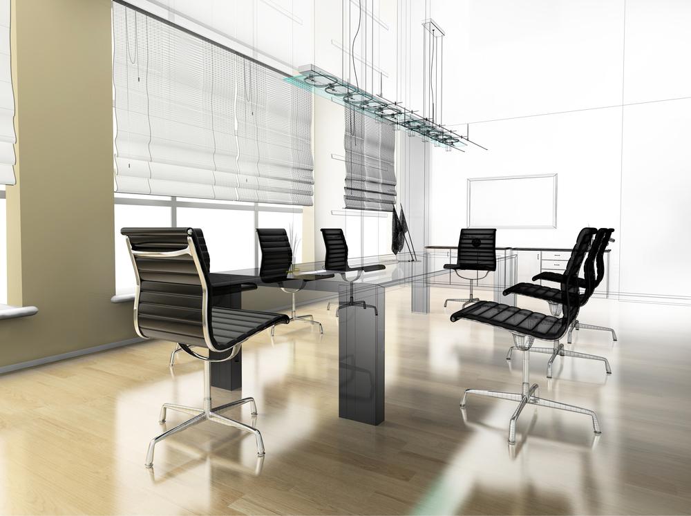 Modern_interior_office_by_Alexey_Kashin_unter_Verwendung_Lizenz_Shutterstock.com